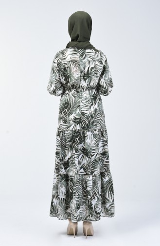 Robe à Motifs 6033-03 Moutarde 6033-03