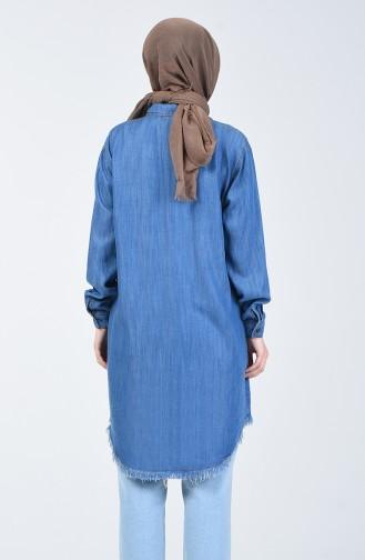 Tensel Kot Tunik 6437-01 Kot Mavi