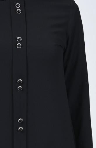 Düğme Detaylı Tunik 3169-02 Siyah