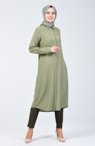 Tunique Viscose à Poche 6435-04 Khaki 6435-04