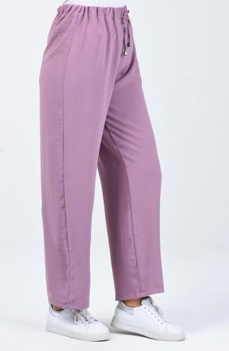 Hose aus Aerobin-Stoff mit elastische Taille 0054-05 Beige 0054-08