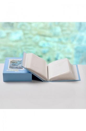 Kutulu Bebek Fotoğraf Albümü 100 Lük 10X15 AL05-01 Mavi 05-01