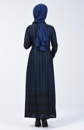 Robe à Ceinture 5330-03 Bleu 5330-03