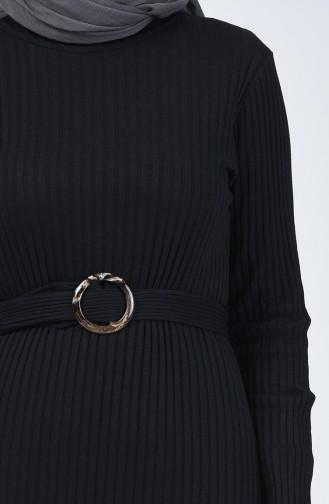 Kaşkorse Elbise 3141-07 Siyah