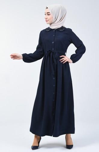 Baby Kragen Jeans Kleid 5082-01 Dunkelblau 5082-01