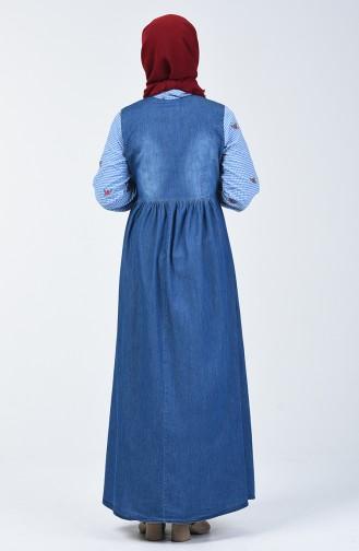 Garnili Kot Elbise 5090-02 Kot Mavi