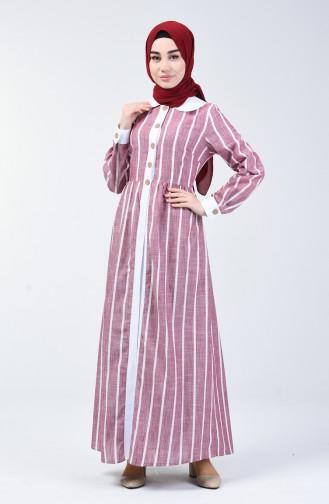 Robe Hijab Bordeaux 6020-01