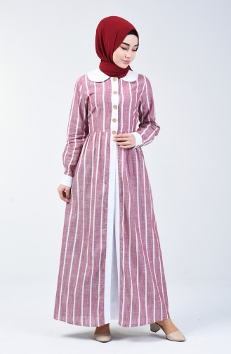 Robe Hijab Bordeaux 6020-01