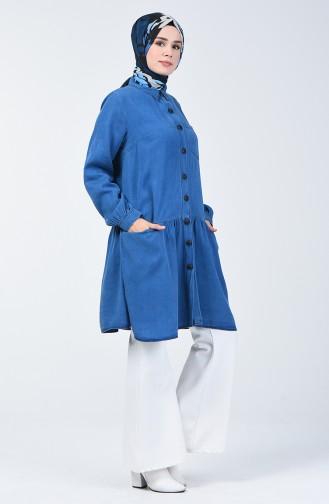 Tensel Cepli Tunik 3009-01 Kot Mavi