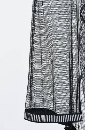 Kapüşonlu File Kap 5016-06 Siyah