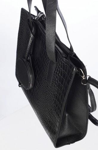 Bayan Çapraz Omuz Çantası 6002-01 Siyah