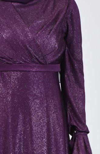Lila Hijab-Abendkleider 1009-02