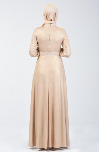 Abendkleid mit Gürtel  1013-01 Gold 1013-01