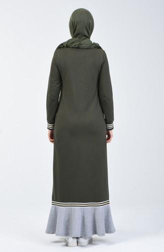 Volanlı Spor Elbise 99250-03 Haki