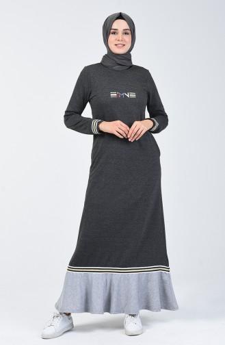 Volanlı Spor Elbise 99250-04 Füme 99250-04