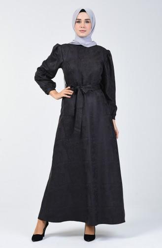 فستان على شكل جلد أسود 60092-01