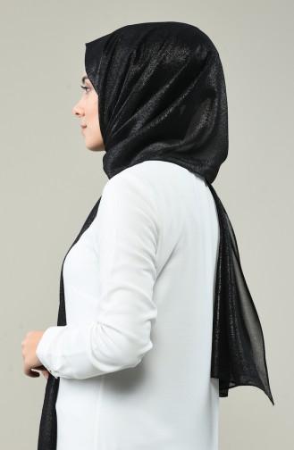 Parla Parla Simli Düz Şal 1050-02 Siyah