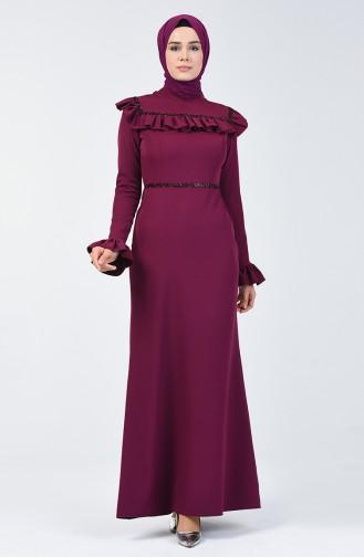 Damson İslamitische Avondjurk 5256B-01