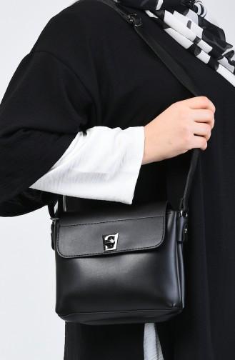 Sac à Bandoulière Croisé Pour Femme 3017-01 Noir 3017-01