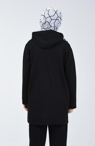 İki İplik Sweatshirt 2237-07 Siyah