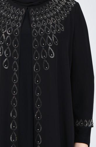Habillé Hijab Noir 3151-01