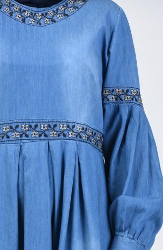 Jeans Blue İslamitische Jurk 5065-01