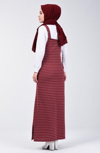Robe Gilet à Carreaux 8000-04 Bordeaux 8000-04