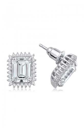 Sky Diamond Küpesky-2715Beyaz 2715