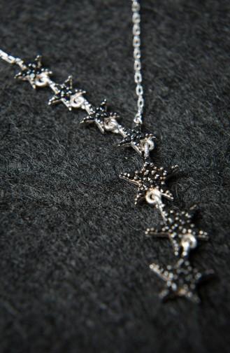 Kadın Samanyolu Model Gümüş 925 Ayar Gümüş Kolye PP2209 Gümüş