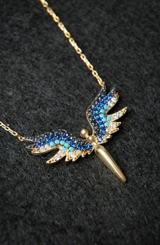 Kadın Melek Model Altın 925 Ayar Gümüş Kolye PP2224 Altın