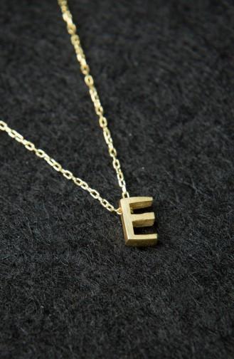 Kadın Üç Boyutlu Harf Altın 925 Ayar Gümüş Kolye PP2246 Altın