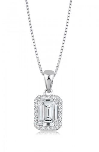 Sky Diamond Baget Kolye sky-3071 Beyaz