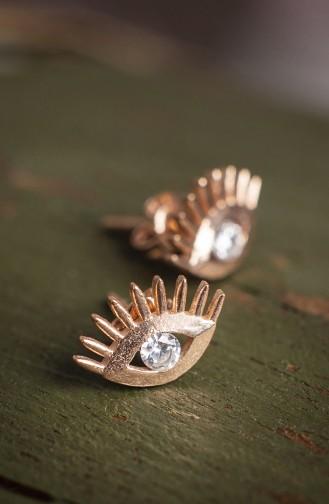 Zirkon Taşlı Göz Figürlü KüpeP2088 Gümüş