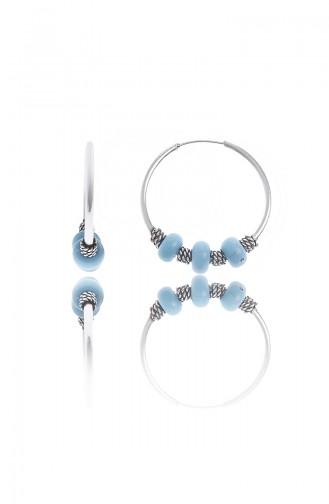 Mavi Boncuklu Haklka KüpeP2154 Gümüş