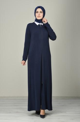 Navy Blue Abaya 8150-01
