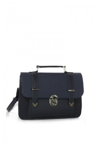Navy Blue Shoulder Bag 03Z-19