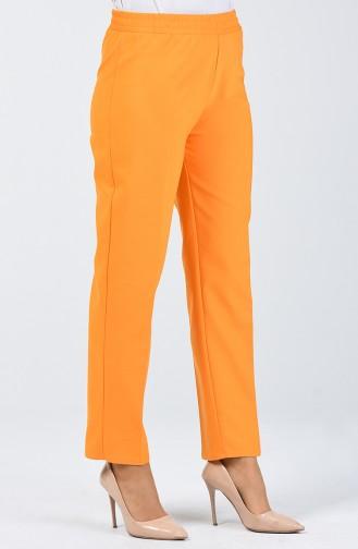 بنطلون بخصر مطاطي لون برتقالي   3141PNT-01