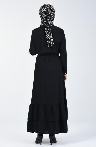 Black İslamitische Jurk 0067-01