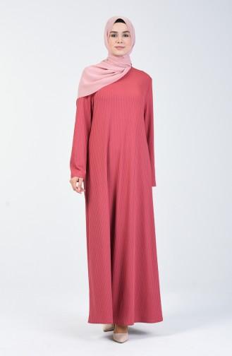 Kaşkorse Elbise 0069-03 Gül Kurusu 0069-03