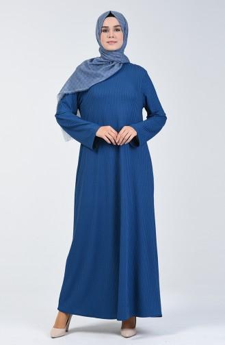 Kaşkorse Elbise 0069-05 İndigo