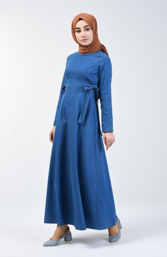 Light Navy Blue Dress 5292-03