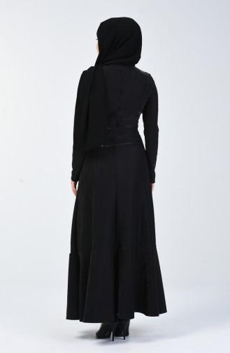 Schwarz Hijap Kleider 5116-03