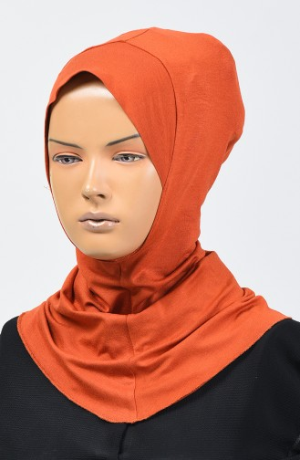 Combed Cotton Bonnet 13142-18 Brick Red 13142-18