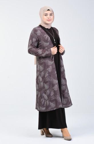 Grösse Grosse Zweier Anzug mit Halskette 8283-03 Braun 8283-03