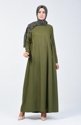 Sefamerve Hamile Elbise 8147-02 Yeşil