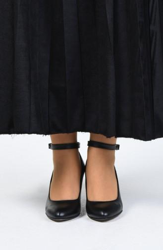 Chaussures à Talons Pour Femme 1093-11 Noir Cuir 1093-11