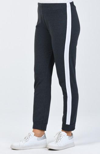 Pantalon de Survêtement à Rayures 9000B-02 Fumé 9000B-02
