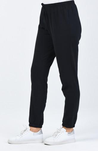 Pantalon de Survêtement Taille Élastique 1558-01 Noir 1558-01