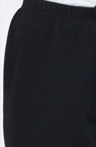 Beli Lastikli Eşofman Altı 1558-01 Siyah