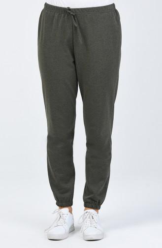 Pantalon de Survêtement Taille Élastique 1558-02 Khaki 1558-02